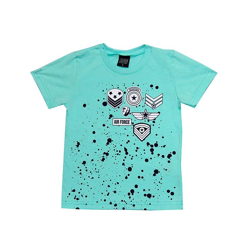 Camiseta Infantil Menino Aviação Verde