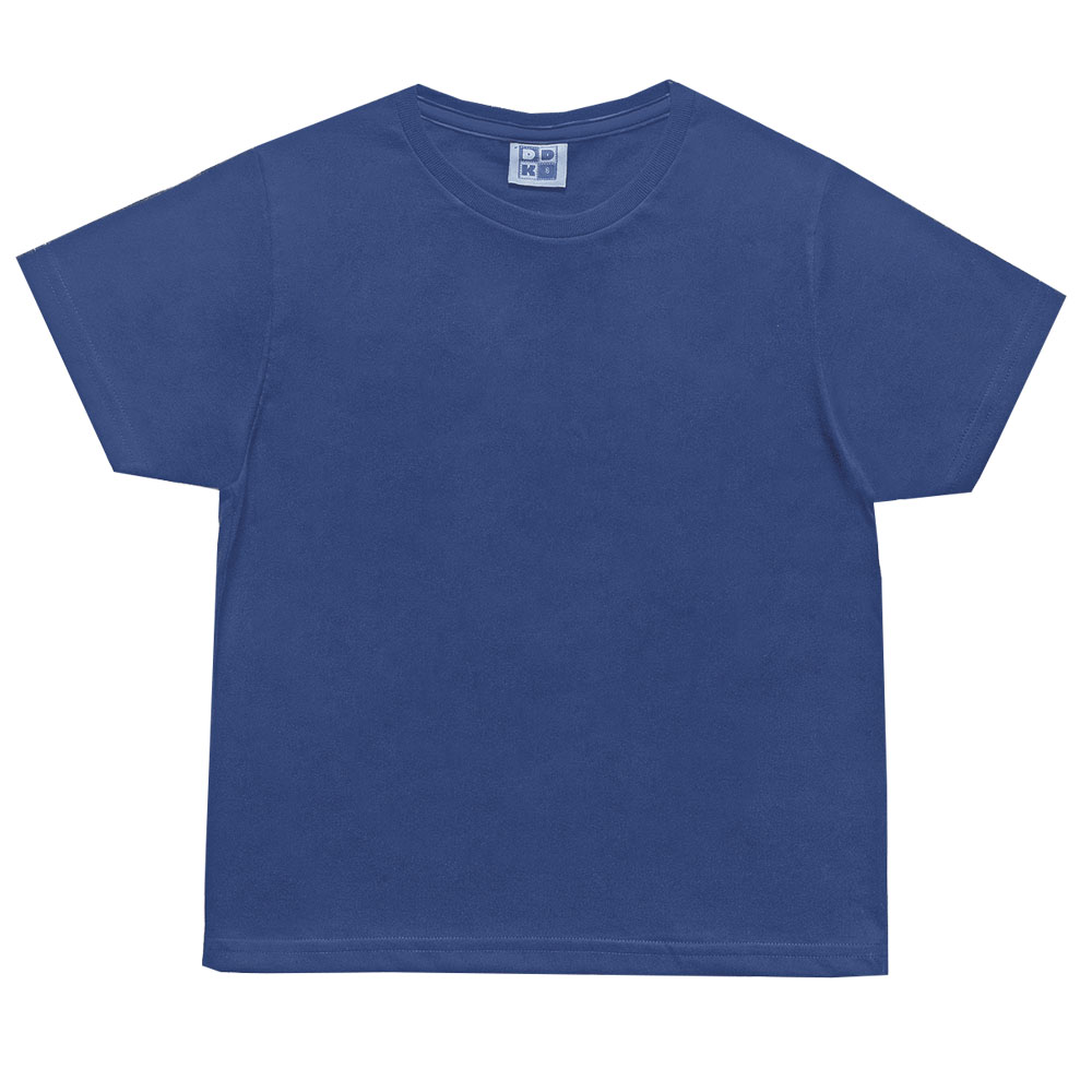 Camiseta Infantil Menino Básica - Azul