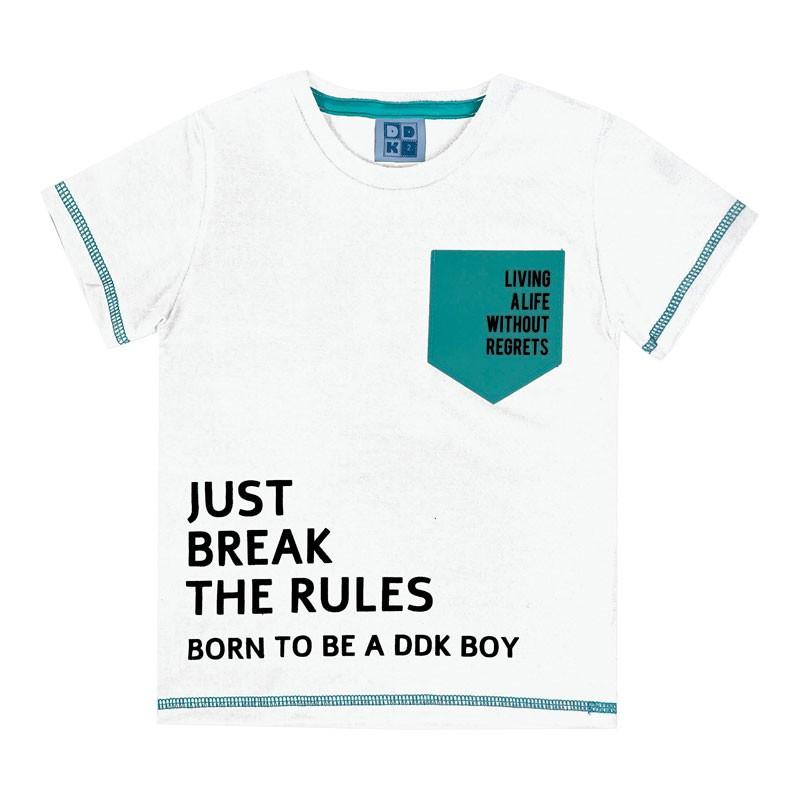 Camiseta Infantil Menino com Bolso Branco
