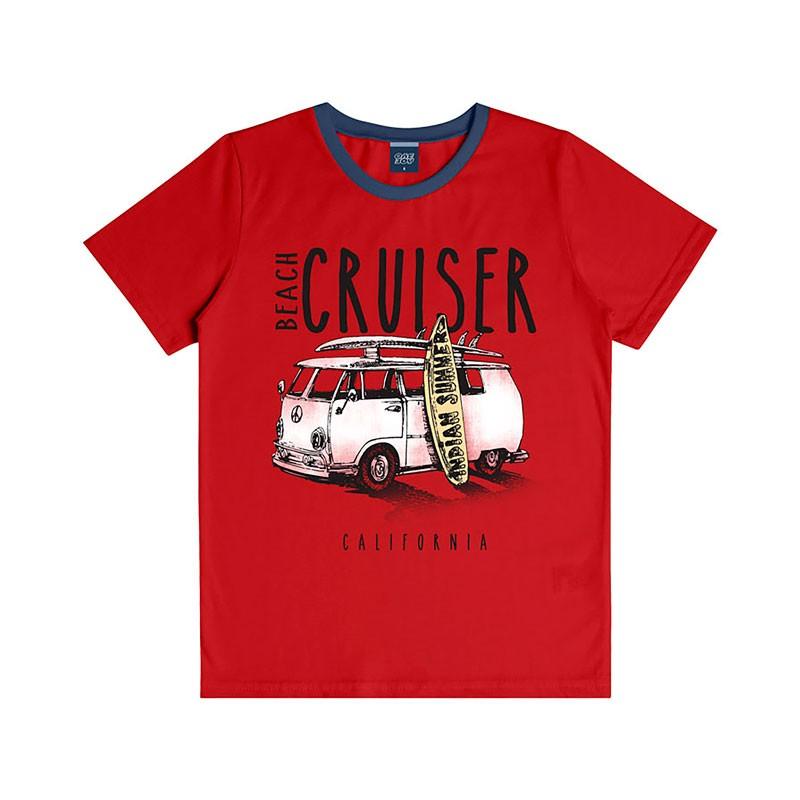 Camiseta Infantil Menino Cruiser Vermelho