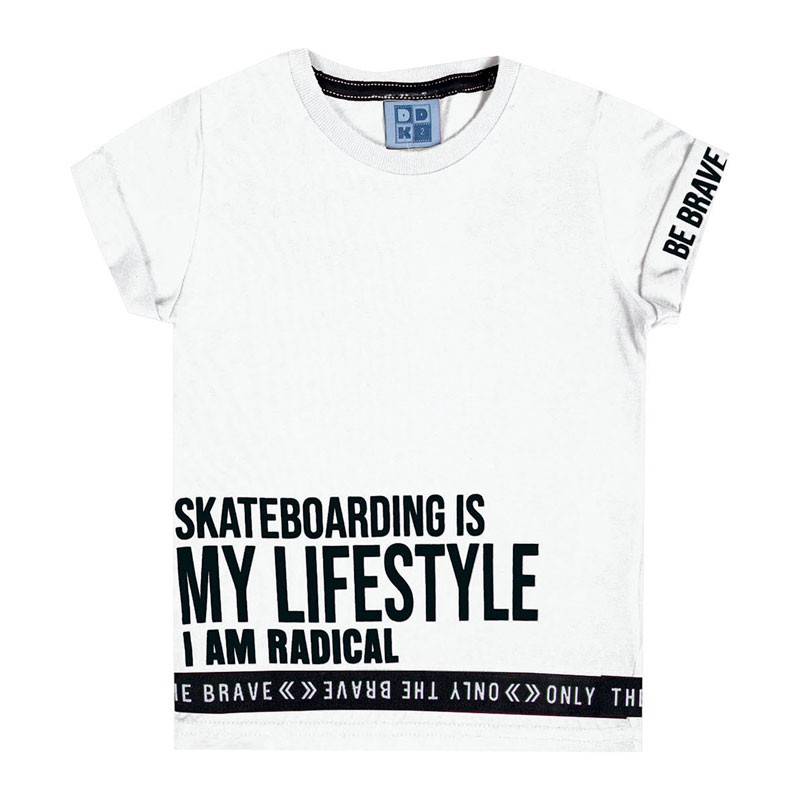 Camiseta Infantil Menino Escrita Branco