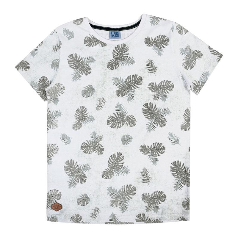 Camiseta Infantil Menino Folhas Preto