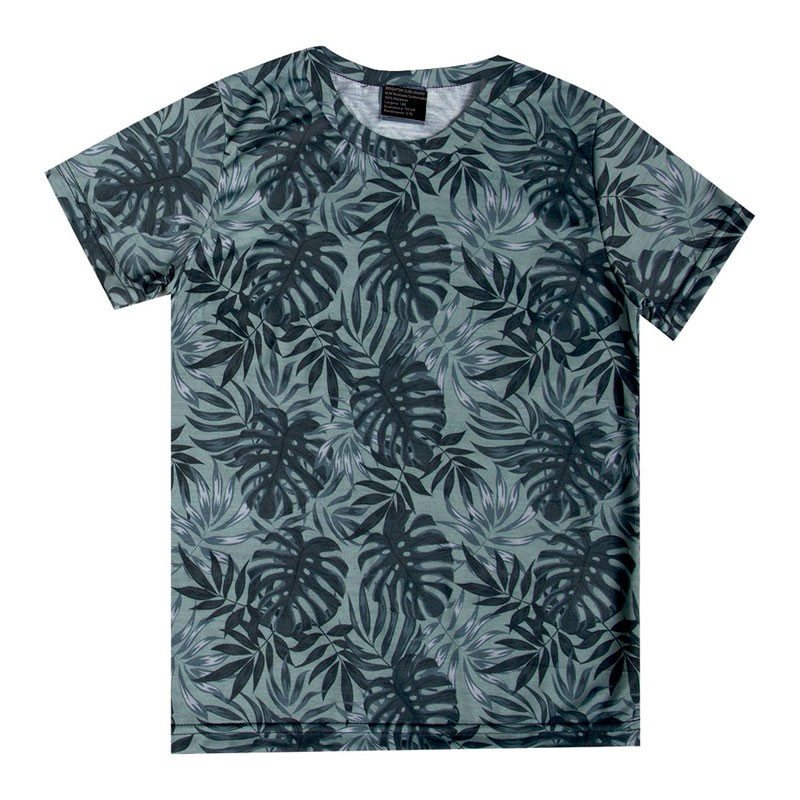 Camiseta Infantil Menino Folhas Verde