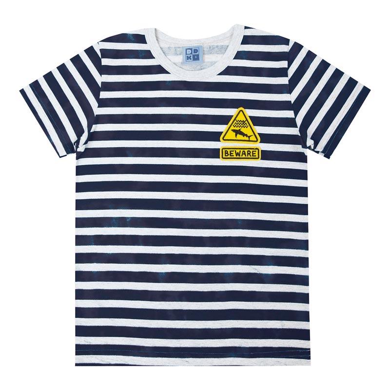 Camiseta Infantil Menino Listrada Branco