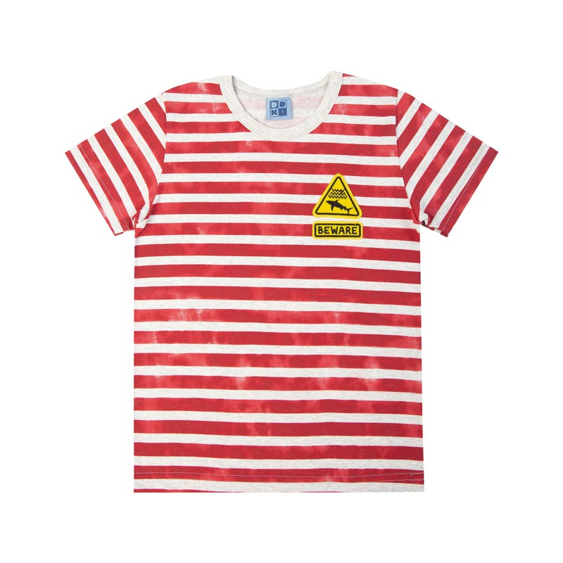 Camiseta Infantil Menino Listrada Cinza
