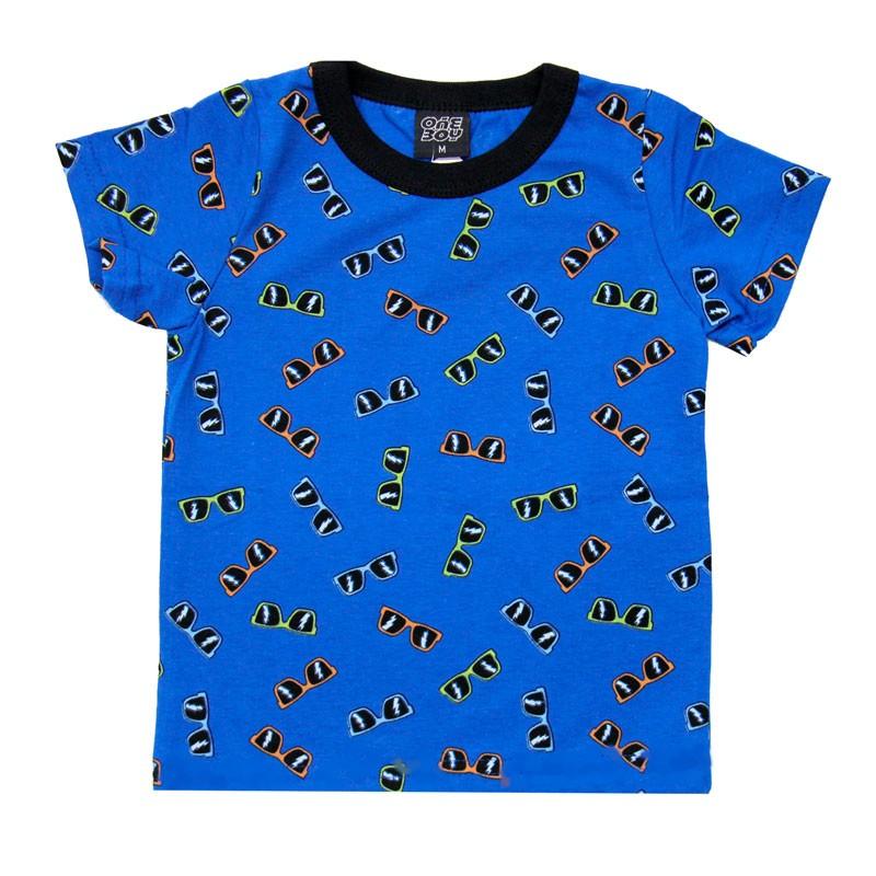 Camiseta Infantil Menino Óculos Azul