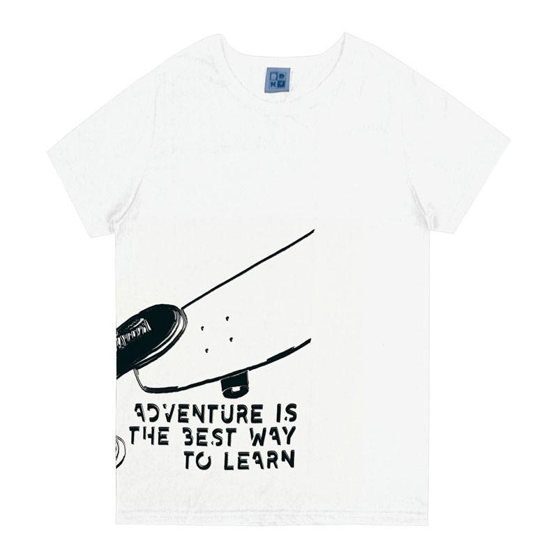 Camiseta Infantil Menino Skate Branco
