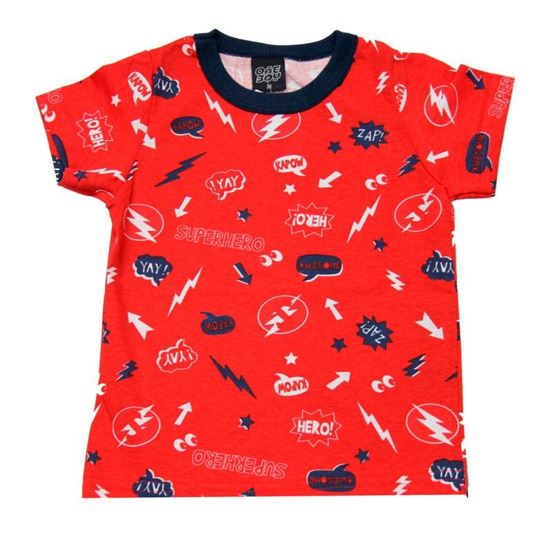 Camiseta Infantil Menino Vermelho
