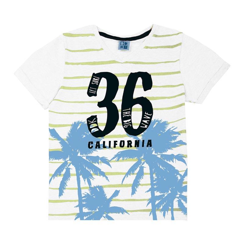 Camiseta DDK Juvenil Menino Califórnia Branco