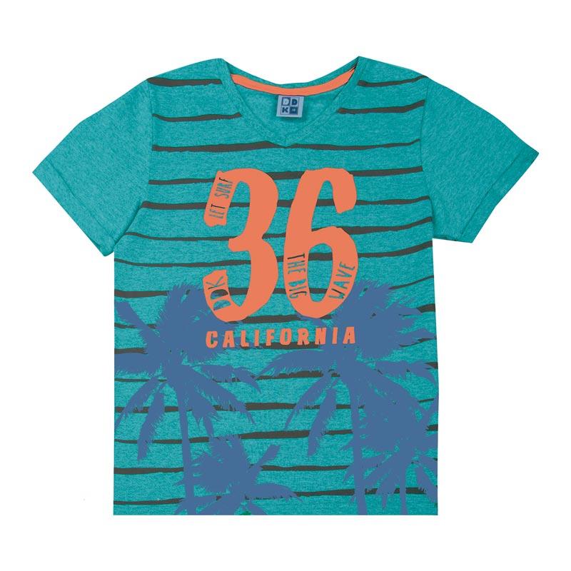 Camiseta DDK Juvenil Menino California Verde
