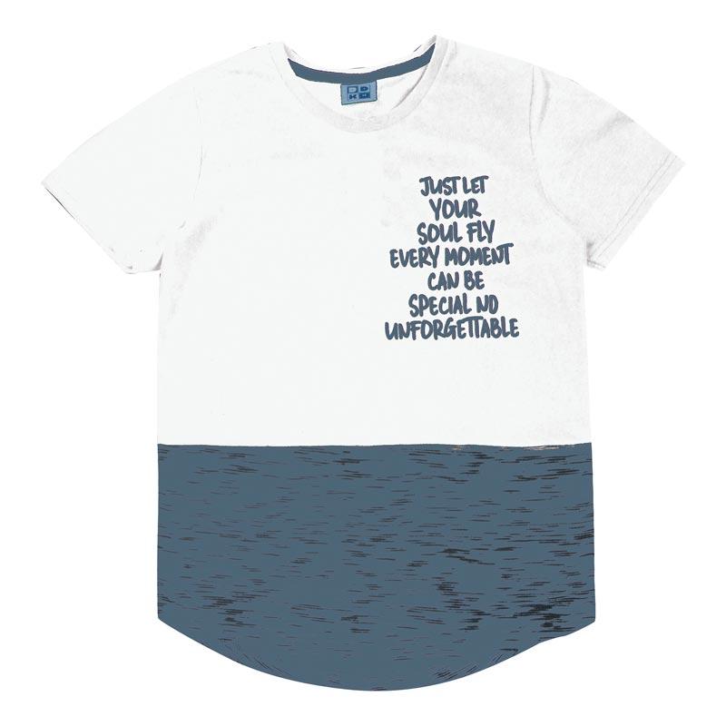 Camiseta Juvenil DDK Menino Escrita Branco
