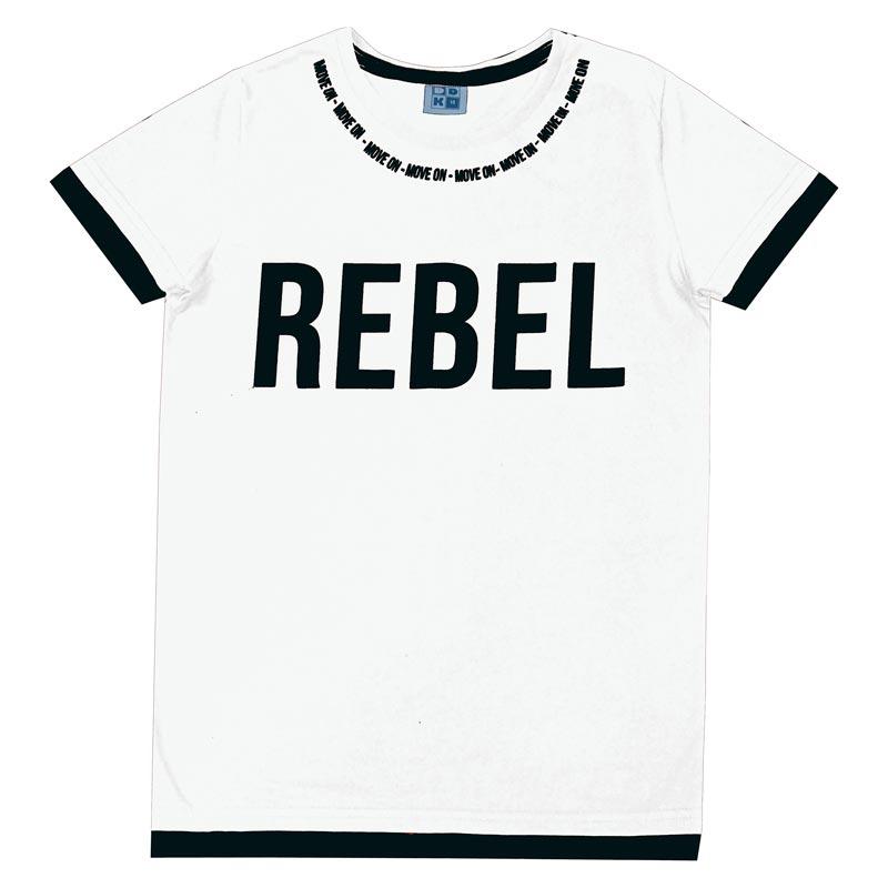 Camiseta DDK Juvenil Menino Rebel Branco