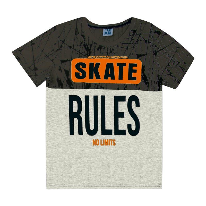 Camiseta Juvenil DDK Menino Skate Cinza