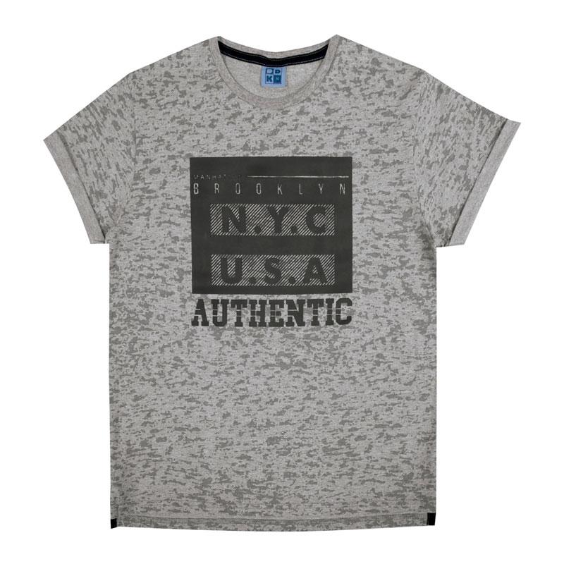 Camiseta Juvenil Menino Authentic Cinza