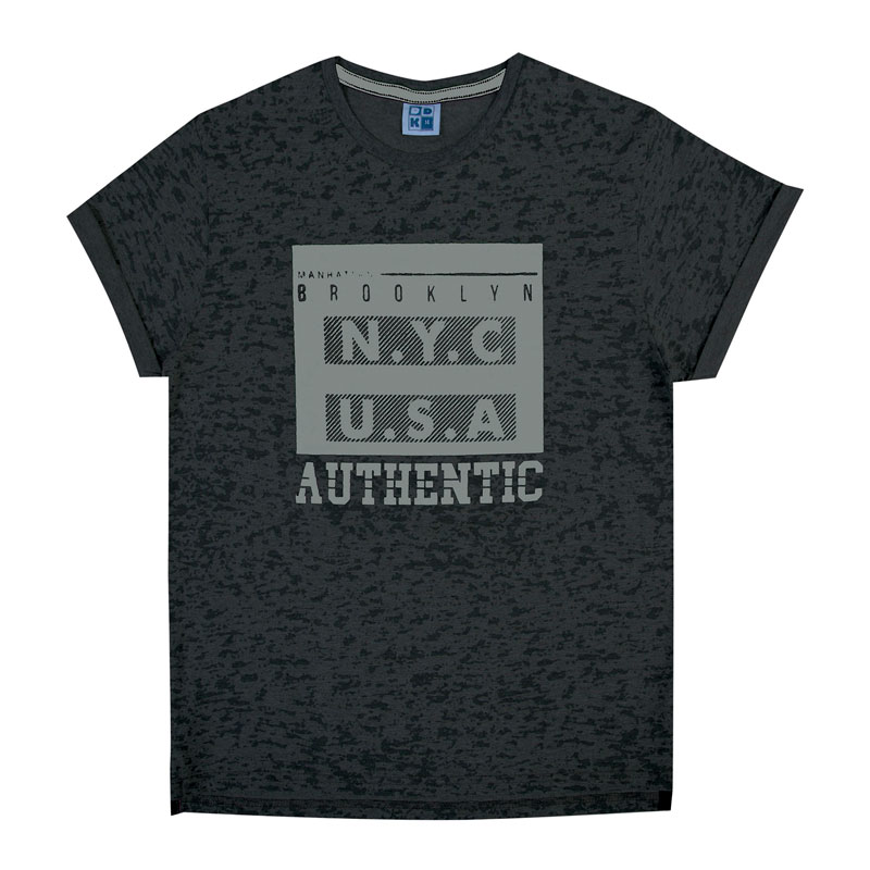 Camiseta Juvenil Menino Authentic Preto