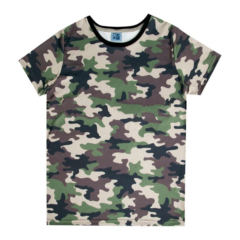 Camiseta Juvenil Menino Folhas Verde
