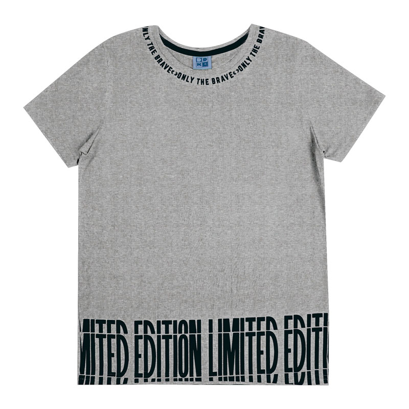 Camiseta Juvenil Menino Limited Cinza