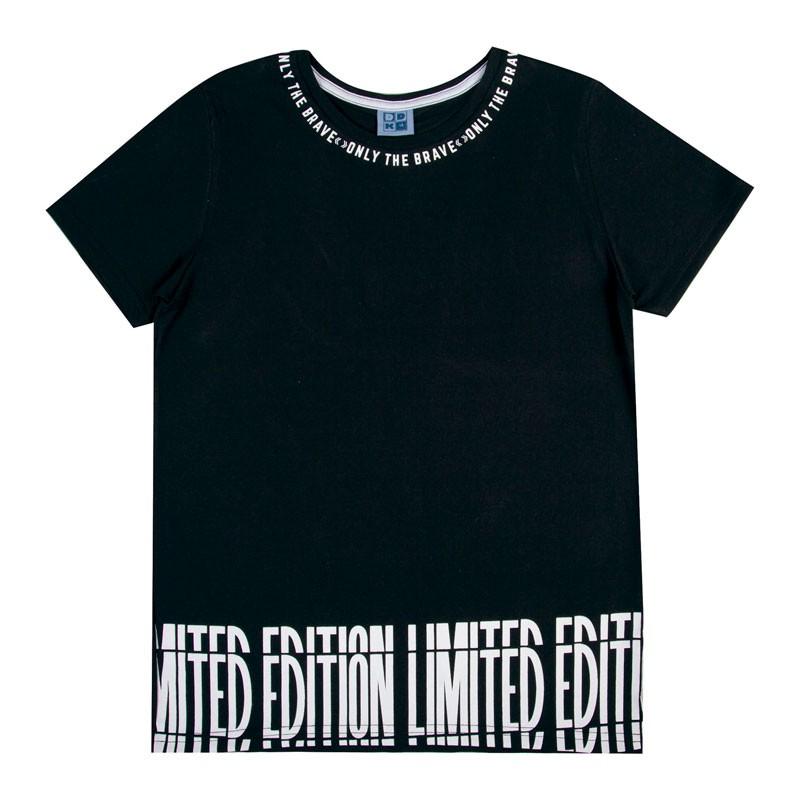 Camiseta Juvenil Menino Limited Preto