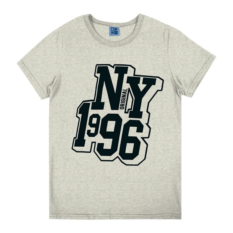 Camiseta Juvenil Menino NY 1996 Cinza