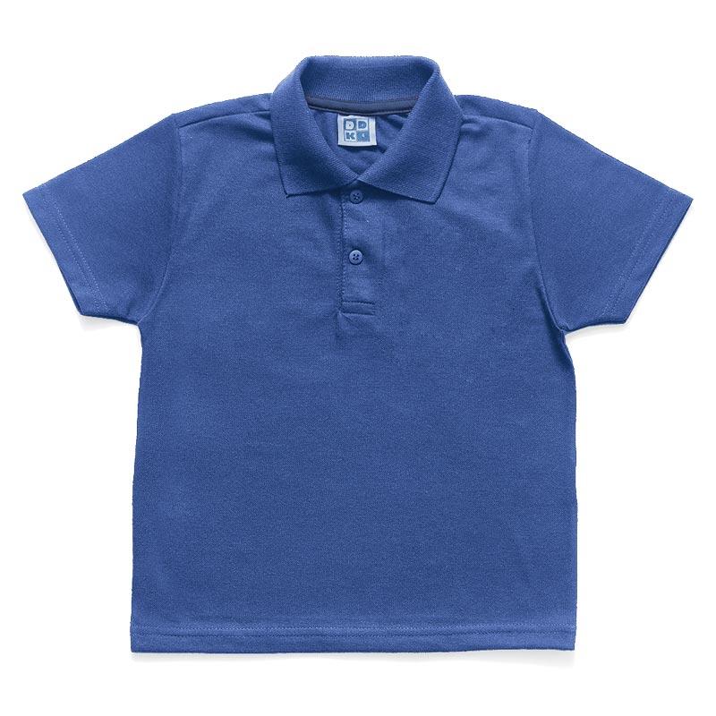 Camiseta DDK  Polo Infantil Menino Básico Azul