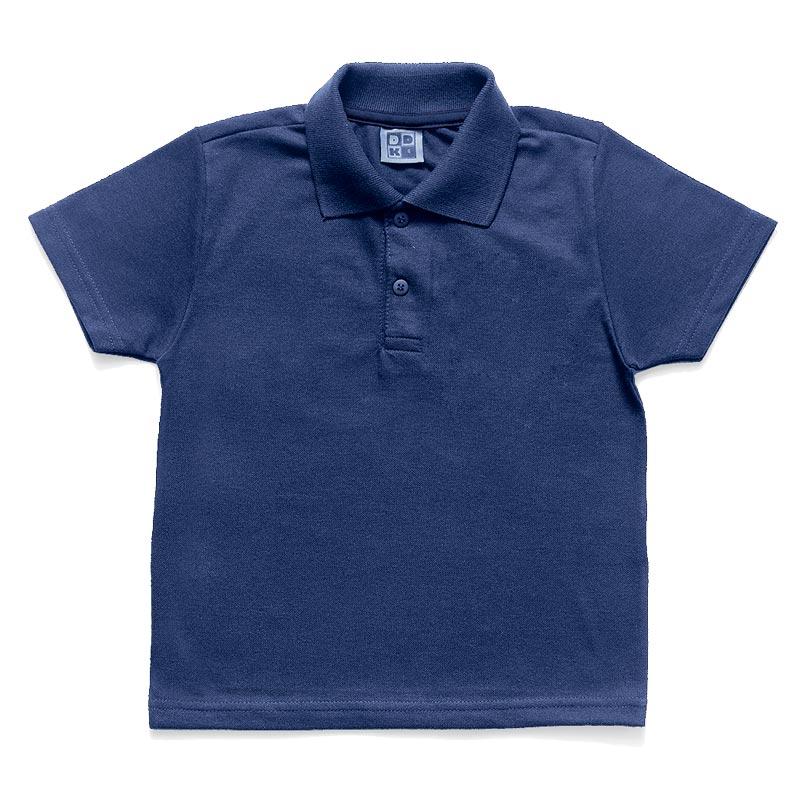 Camiseta Polo DDK Infantil Menino Básico Azul