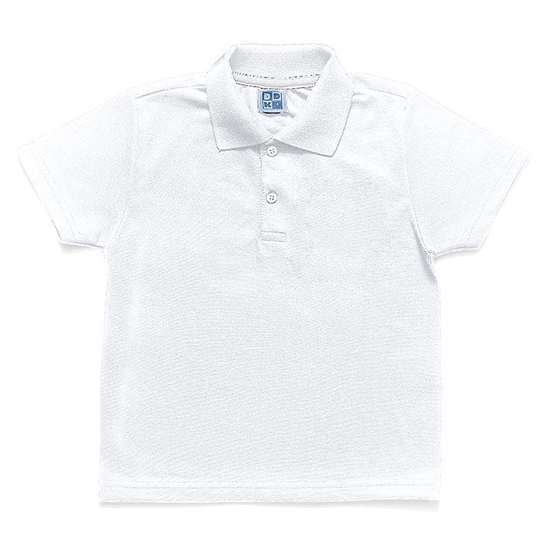 Camiseta Polo Infantil Menino Básica Branco