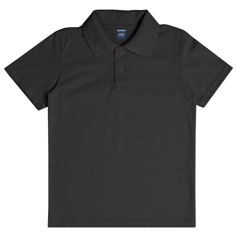 Camiseta Polo DDK Infantil Menino Básico Preto