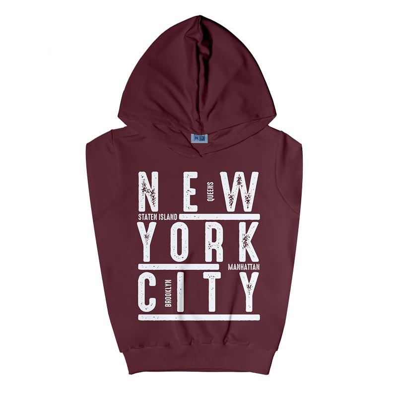 Casaco DDK Infantil Menino New York Bordô