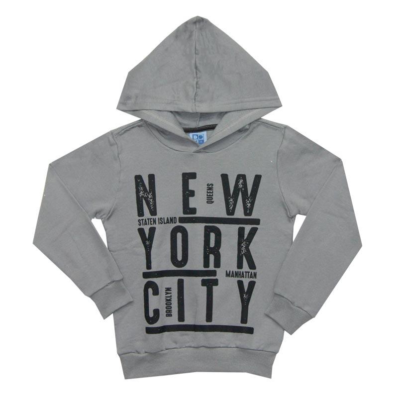 Casaco DDk Infantil Menino New York Cinza