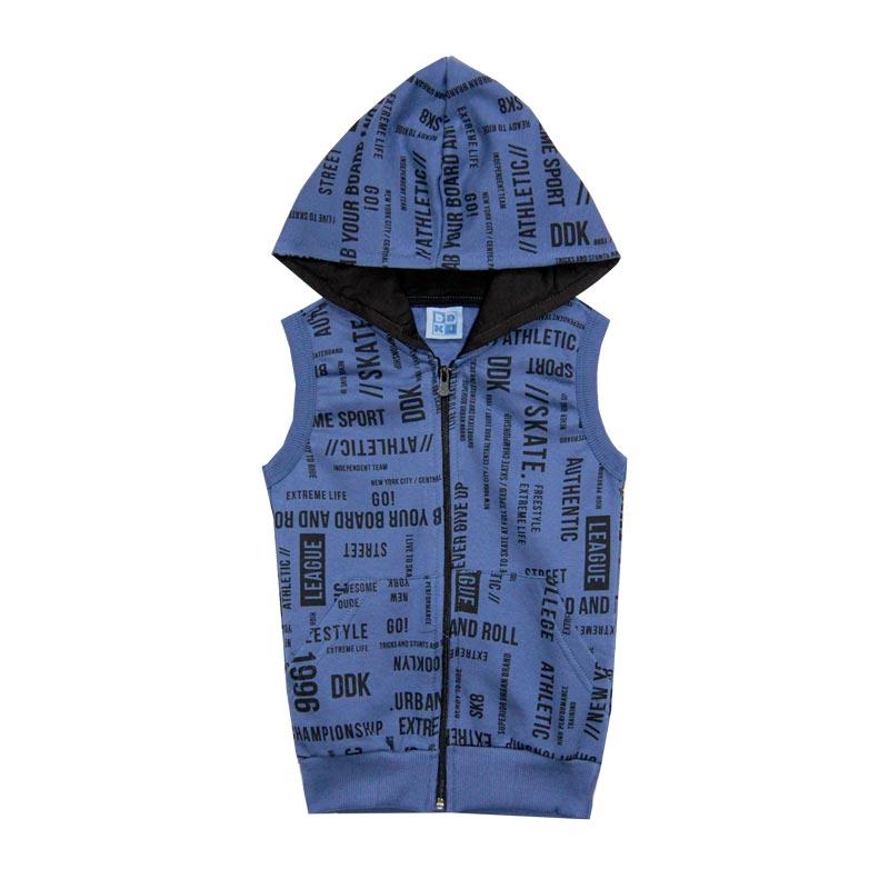 Colete DDK Infantil Menino Bolso Canguru Azul