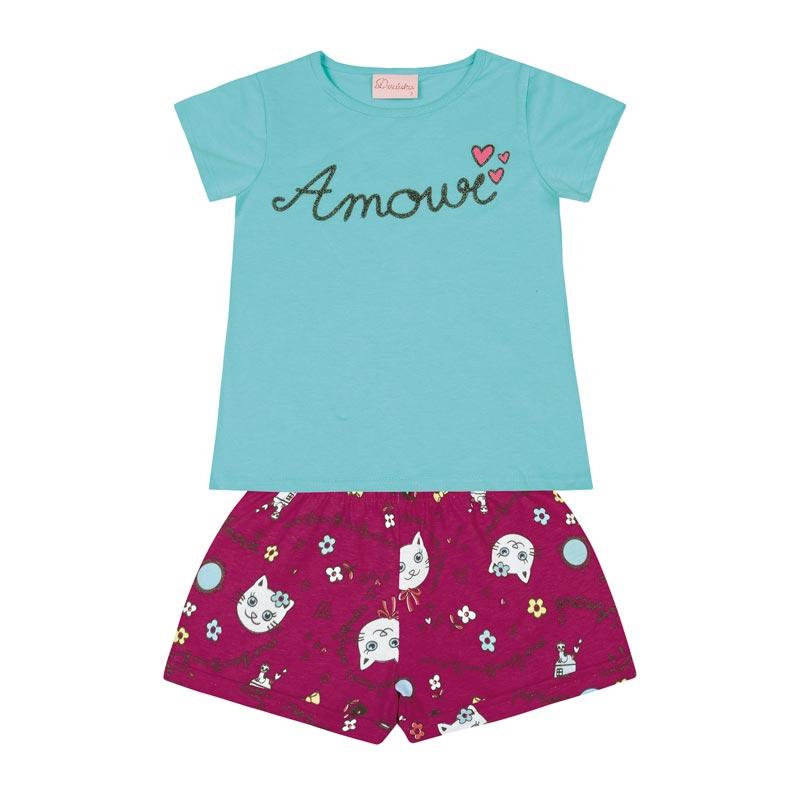 Conjunto Duduka Bebê Menina Amour Azul