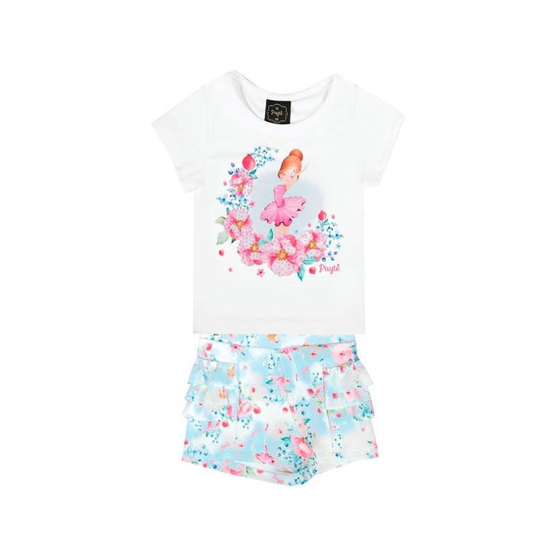 Conjunto Bebê Menina Bailarina Branco