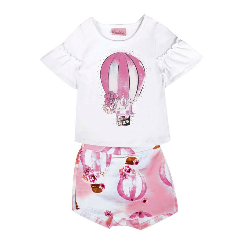Conjunto Bebê Menina Balão Branco