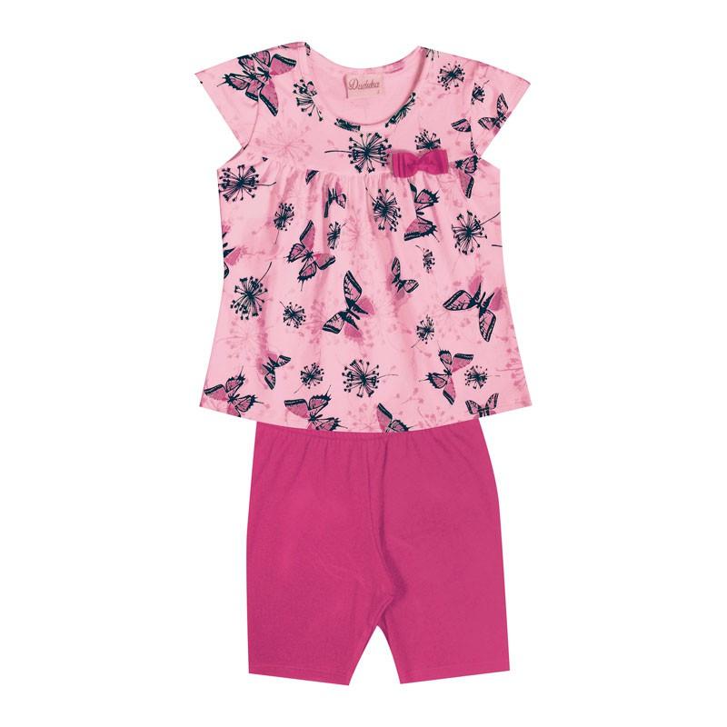 Conjunto Bebê Menina Borboleta Rosa