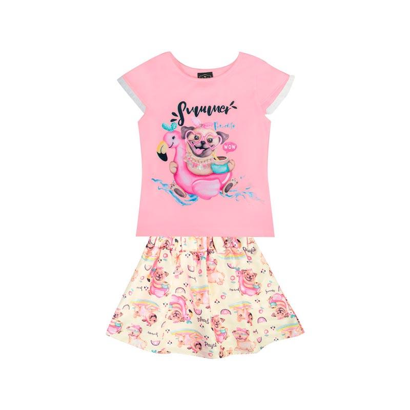 Conjunto Bebê Menina Summer Rosa