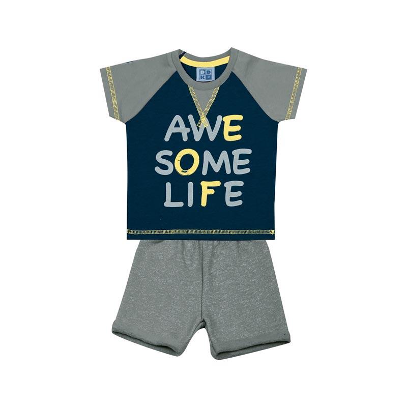 Conjunto DDK Bebê Menino Life  Azul