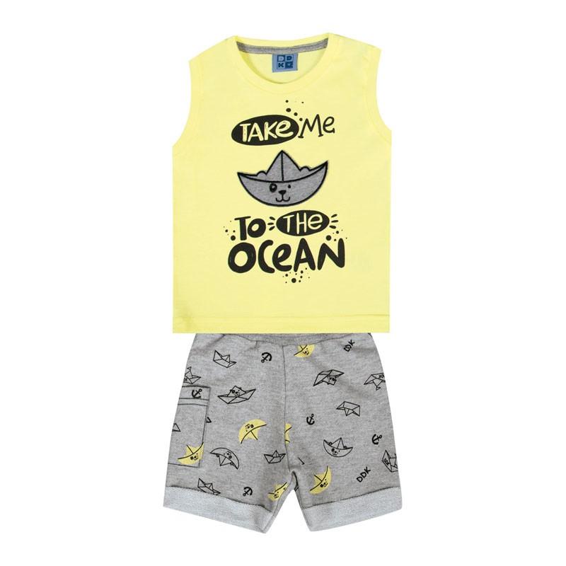 Conjunto Bebê Menino Ocean Amarelo