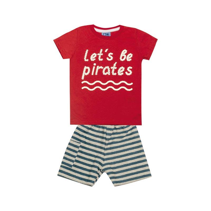 Conjunto Bebê Menino Pirates Vermelho