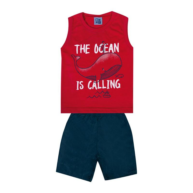 Conjunto Bebê Menino The Ocean Vermelho