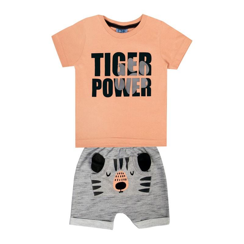 Conjunto DDK Infantil Menino Tiger Power Laranja
