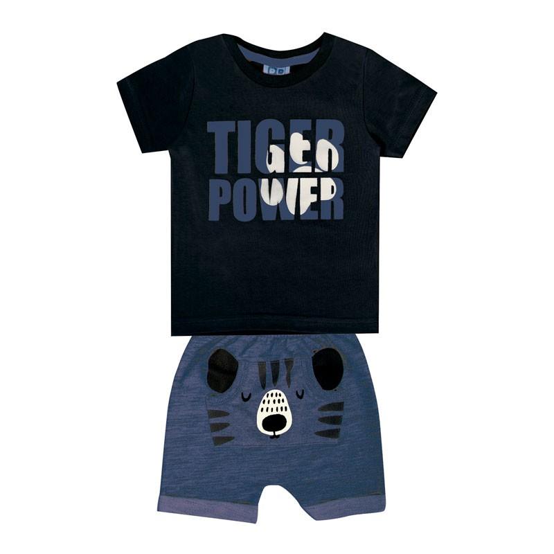 Conjunto DDK Infantil Menino Tiger Power Preto