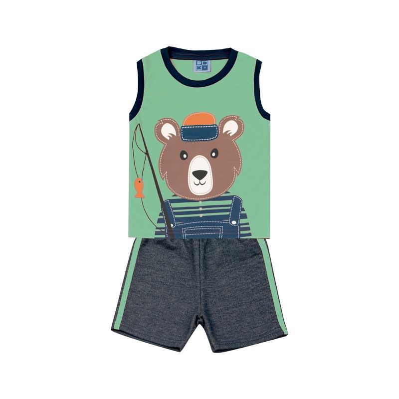 Conjunto Bebê Menino Urso Verde