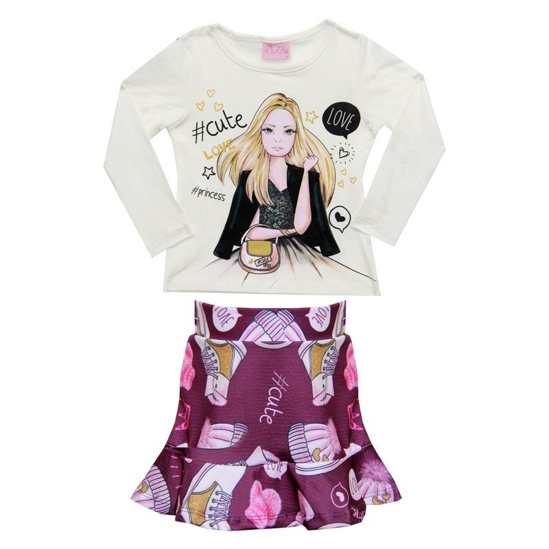 Conjunto Cute Fashion Infantil - Duduka