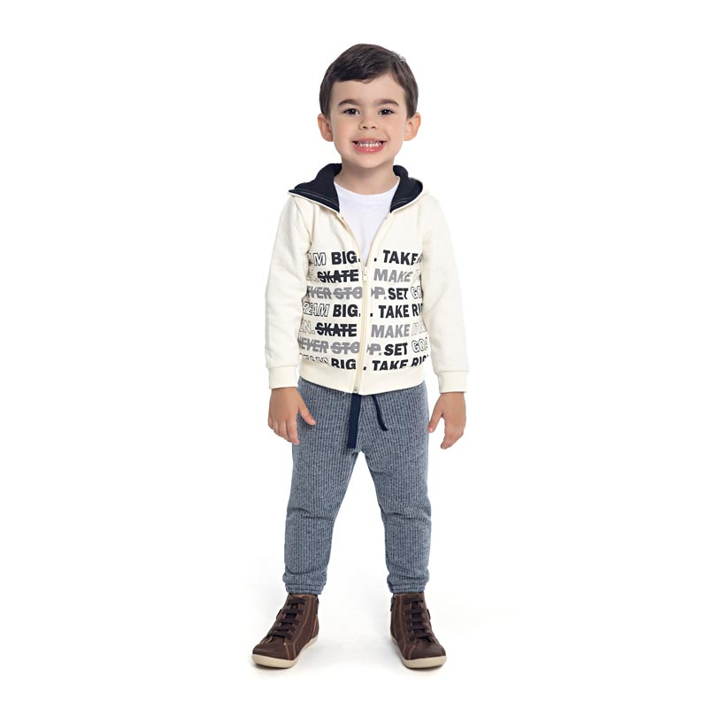 Conjunto DDK Infantil Menino Bege