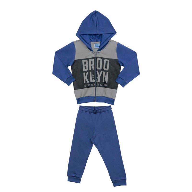 Conjunto DDK Infantil Menino Brooklyn Azul