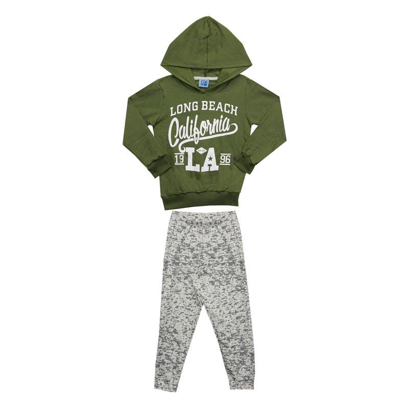 Conjunto DDK Infantil Menino Califórnia Verde
