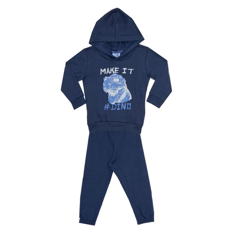Conjunto DDK Infantil Menino Dino Azul