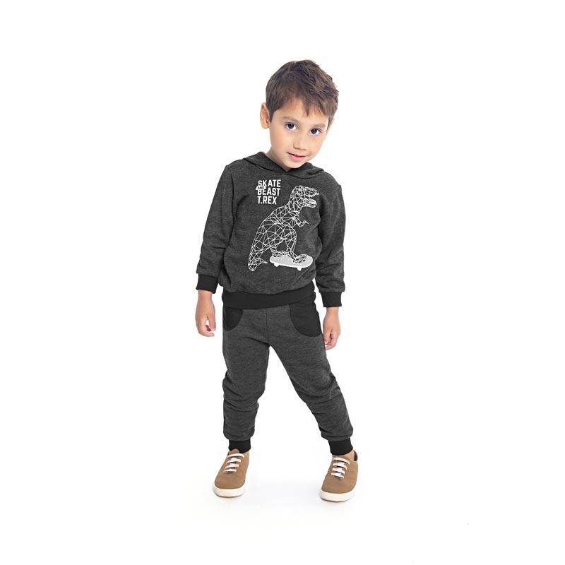 Conjunto DDK Infantil Menino Dinossauro Mescla Escuro