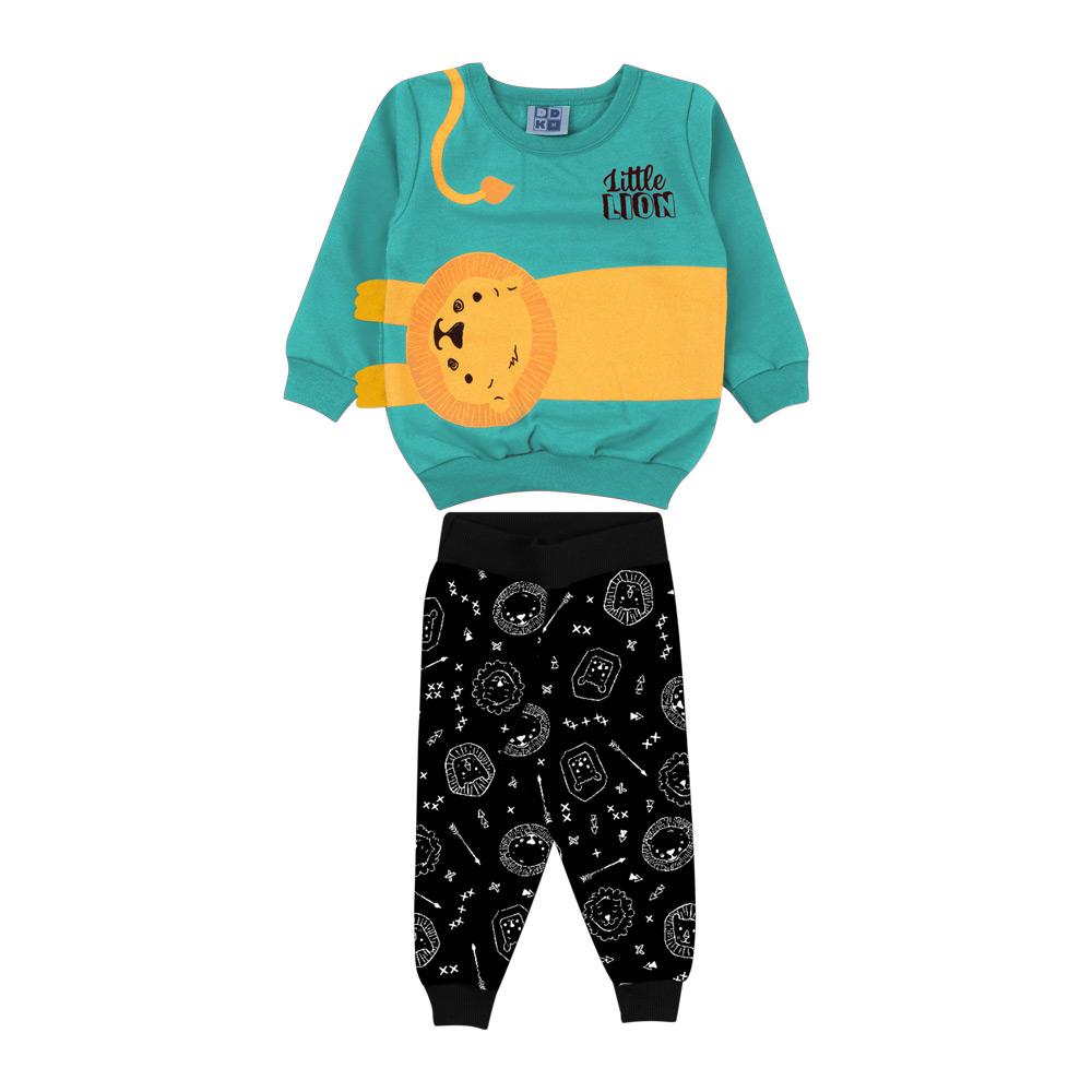 Conjunto DDK Infantil Menino Leão Azul