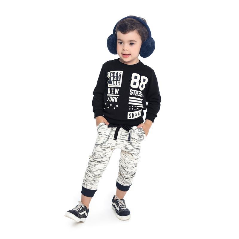 Conjunto DDK Infantil Menino New York Preto